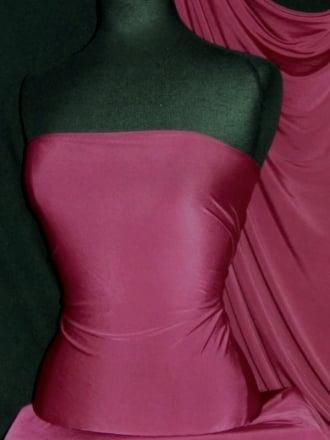 Silk Touch 4 Way Stretch Lycra Fabric- Claret Q53 CLRT