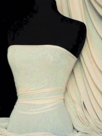 Spun Poly Viscose Light Weight Stretch Fabric- Almond PVSC ALM