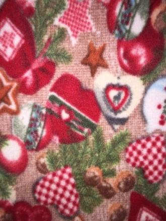 Polar Fleece Anti Pill Washable Soft Fabric- Jingle Bells PF RDGRN