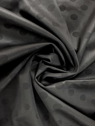 Scuba Poly Lycra Jersey Fabric- Printed Polka Dots Black Q1389 BK