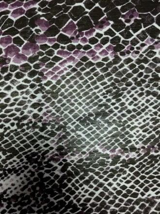 Chiffon Soft Touch Sheer Fabric - Purple Reptile CHF240 PPLBK