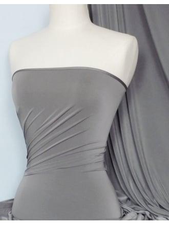 Silk Touch 4 Way Stretch Lycra Fabric- Dark Cloud Grey Q53 DKCLDGR