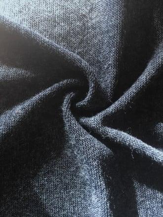 Sweater Knit Acrylic Soft Knitwear Fabric- Navy SQ113 NY