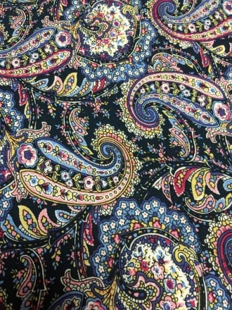 100% Viscose Light Weight Woven Material- Paisley Party VSC243 NYMLT