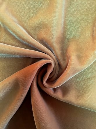 Micro Velvet Velour Fabric Luxuriously Soft Velvet- Camel MVEL22 CML