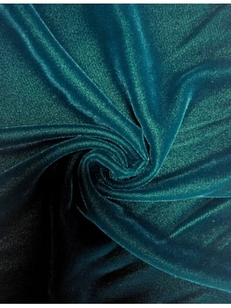 Micro Velvet Velour Fabric Luxuriously Soft Velvet- Teal MVEL22 TL
