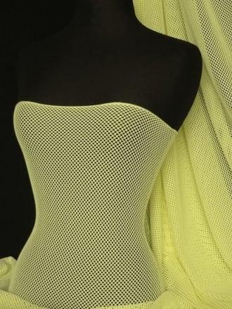 Fishnet 2mm 4 Way Stretch Material- Lemon Q317 LMN
