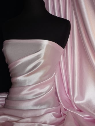 Super Soft Satin Fabric- Baby Pink Q710 BPN