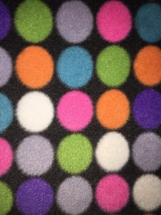 Polar Fleece Anti Pill Washable Soft Fabric- Disco Ball Lights PF BKMLT