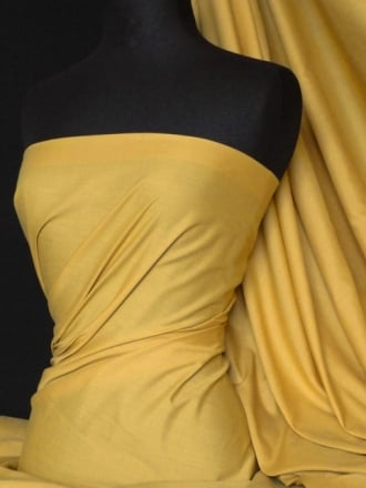 Poly Cotton Material- Mustard Q460 MSTD