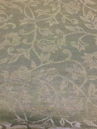 100% Nylon Floral Shimmer Mesh Fabric- Golden Gaze SQ127 GLD