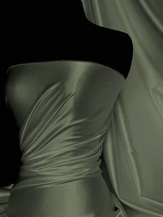Super Soft Satin Fabric- Khaki Q710 KH