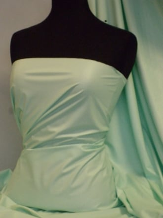 Leatherette Fabric PVC Leather Stretch Material- Soft Mint PV199 SMNT