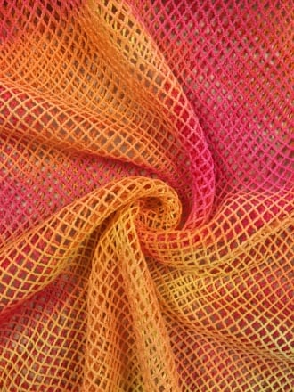Tie-Dye Fishnet 4 Way Stretch Material- Sunset Q713 ORYLPN