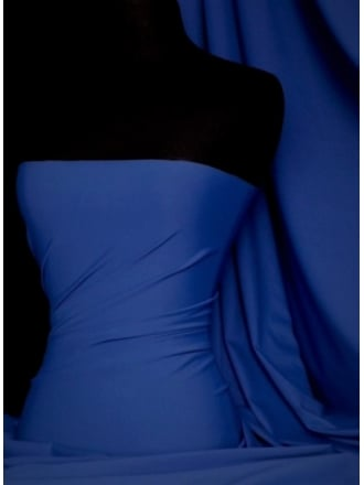 Clearance Matt Lycra 4 Way Stretch Light Weight Fabric- Royal Blue SQ66 RBL