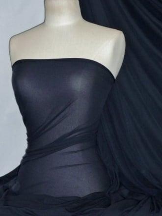 Paris Mesh Non-Lycra 4 Way Stretch Light Jersey Fabric- Navy Q450 NY