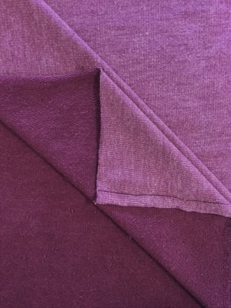 Sweatshirt Fleece Loop Back Stretch Cotton Material- Purple Grape Q912 PPL