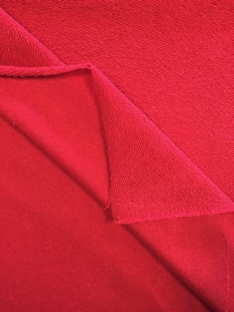 Sweatshirt Fleece (183 cms) Loop Back Stretch Cotton Material- Red SQ151 RD