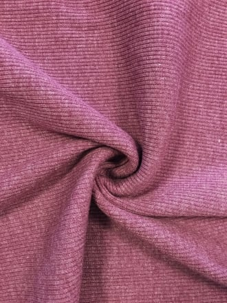 100% Cotton Jersey 2 x 2 Rib Knit Fabric- Mauve Q1007 MVE