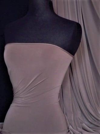 Clearance Matt Lycra 4 Way Stretch Lightweight Fabric- Mink SQ66 MNK