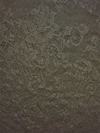 100% Nylon Slight Stretch Lace Fabric- Rose Bunch Black SQ157 BK