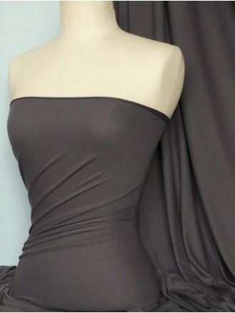 Clearance Micro Lycra 4 Way Stretch Fabric - Charcoal Q259 CHR