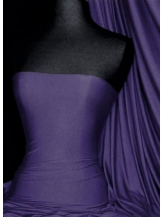 Clearance Viscose 4 Way Stretch Lycra Fabric- Indigo Purple SQ130 IND