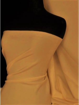 Scuba Stretch Poly Lycra Fabric- Caramel Q792 CRML