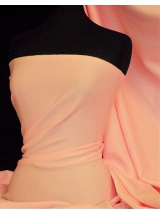 Scuba Stretch Poly Lycra Fabric- Peach Blossom Q792 PCHB