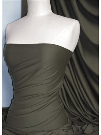 Clearance Cotton Lycra Jersey 4 Way Stretch Lightweight Fabric- Charcoal Grey CLJ CHGR