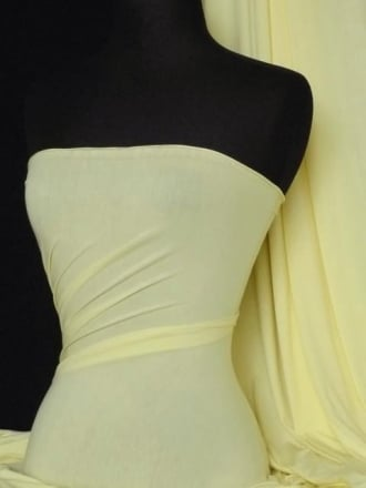 Viscose Cotton Stretch Lycra Fabric- Light Lemon Q300 LTLMN