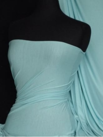 Viscose Cotton Stretch Lycra Fabric- Minty Blue Q300 MTYBL