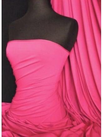 Heavy Viscose Cotton Stretch Lycra Fabric- Cerise Q896 CRS