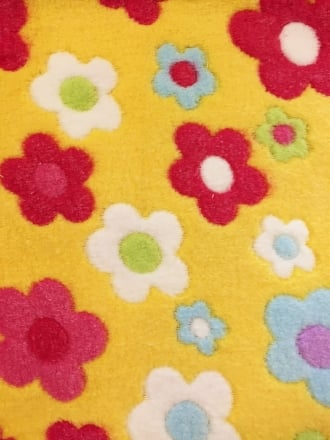Micro Fleece Ultra Soft Fabric- Daisies Yellow/Multi MF YLMLT