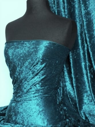 Crushed Velvet/Velour Stretch Material- Blue Diamond Q156 BDMN