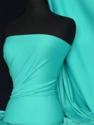 Ponte Double Knit 4 Way Stretch Jersey Fabric- Aqua Blue Q37 AQ