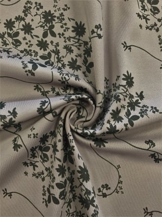 Matt Lycra 4 Way Stretch Lightweight Fabric- Floral Night Grey/Black SQ171 GRBK