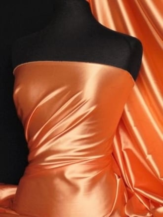 Super Soft Satin Fabric- Orange Q710 OR