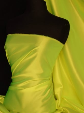 Acetate Satin Fabric Material- Tropical Lime Q824 TLM
