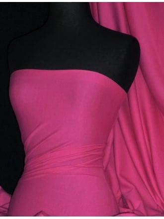 Soft Fine Rib 100% Cotton Knit Material - Fuchsia Pink Q61 FCH