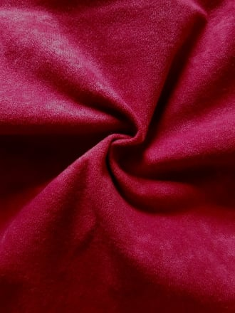 Faux Heavy Suede/ Upholstery Fabric Material- Cherry Red SQ174 CHRD