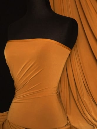 Silk Touch 4 Way Stretch Lycra Fabric- Mustard Q53 MSTD