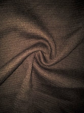 Clearance 2 x 2 Acrylic Rib Knit Stretch Fabric- Brown SQ100 BR