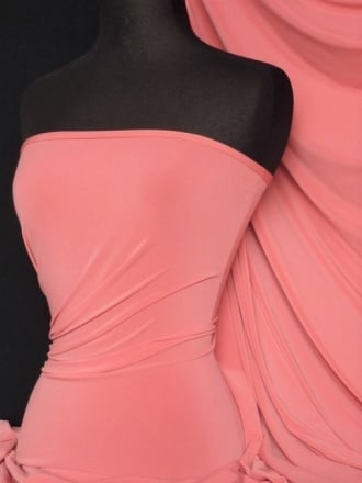 Soft Touch 4 Way Stretch Lycra Fabric- Light Coral Q36 LTCRL END OF LINE DISCOUNTS