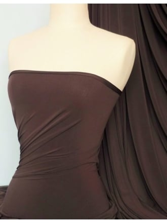 Soft Touch 4 Way Stretch Lycra Fabric- Chocolate Brown Q36 CHBR