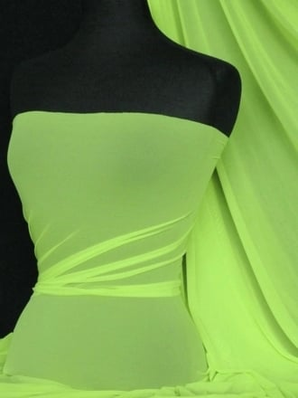 LT Power Mesh 4 Way Stretch Material- Lime Green 109 LT LMGRN