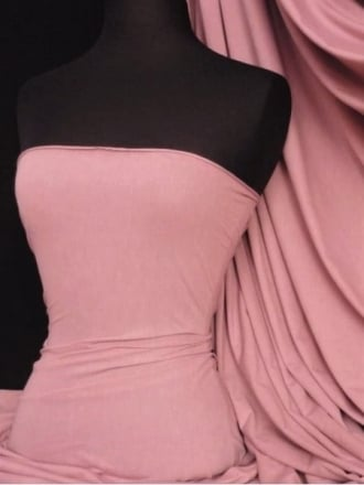 Cotton Lycra Jersey 4 Way Stretch Fabric - Rose Pink Q35 RSPN