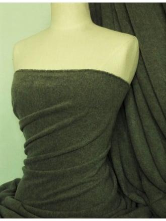 NEW Super Soft Polar Fleece Anti Pill Washable Fabric- Dark Khaki PF DKH