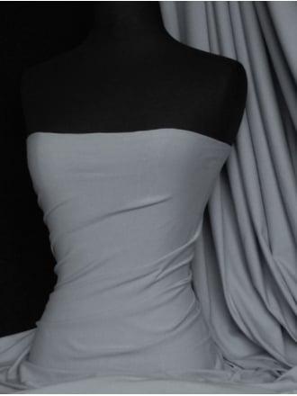 Cotton Lycra Jersey Light Weight 4 Way Stretch Fabric - Pigeon Grey Q1140 PGR
