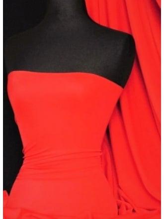 Matt Lycra 4 Way Stretch Fabric- Sunset Orange SQ178 SOR